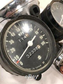 Monture De Phare Pour Compteur De Vitesse Oem Suzuki Ts185 Vintage W Wires