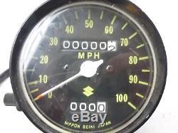 Nos Nouveaux Suzuki 73-76 Ts250 Ts 250 Compteur De Vitesse Jauge Oem 34101-30600