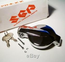 Nos Suzuki Chrome Gas Cap & Clés Oem Gt750 Gt550 Gt380 Gt250 T500 Ts400 Ts250