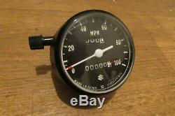 Nos Suzuki Ts125 Ts185 Tc125 Horloge Tachymètre Speedo Deux Avc