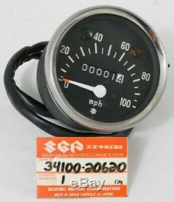 Nos Véritable Suzuki Stinger T125 Tc90 Ts90 Tc120 Oem Compteur De Vitesse Mph 34100-20620