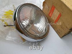 Nouveau Old Stock Suzuki A100 Sr A80 Gt100 Ts100 Rv90 Round Headlamp Headlamp Head Light Assy