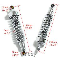 Plus Récent Universal 320mm Motorcycle Rear Shock Absorbers Suspension Springs Amortisseur