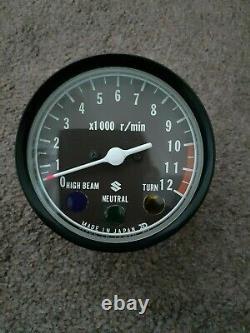 Suzuki Gt T Ts 125 185 Nos Rev Counter 1970s Tachometer 10 Thou Red Line Gt125