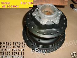 Suzuki Ts100 Ts125 Ts185 Rm100 Rm125 Roue Arrière Hub De 1970 Nos 64110-38001