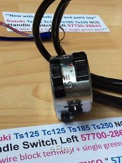 Suzuki Ts125 Tc125 Ts185 Ts250 Assemblage De Commutateur De Poignée Nos Nouveau Numéro De Pièce 57700-28643