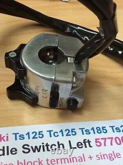 Suzuki Ts125 Tc125 Ts185 Ts250 Nos Assemblage Du Commutateur De Poignée Nouveau N° Pt 57700-28643