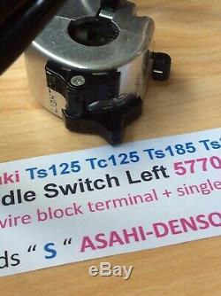 Suzuki Ts125 Tc125 Ts185 Ts250 Nos Switch Poignée Assemblée Nouvelle Pt No 57700-28643