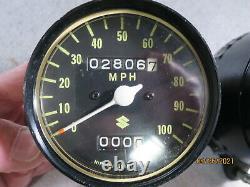 Suzuki Ts250 Ts 250 Speedo & Tach & Mount Plate Cluster Operations Vérifiées