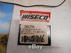 Wiseco Piston Kit 71.50mm Convient Suzuki Tm250 72/75 Ts250 73/76 Rl250 74/75 380p6